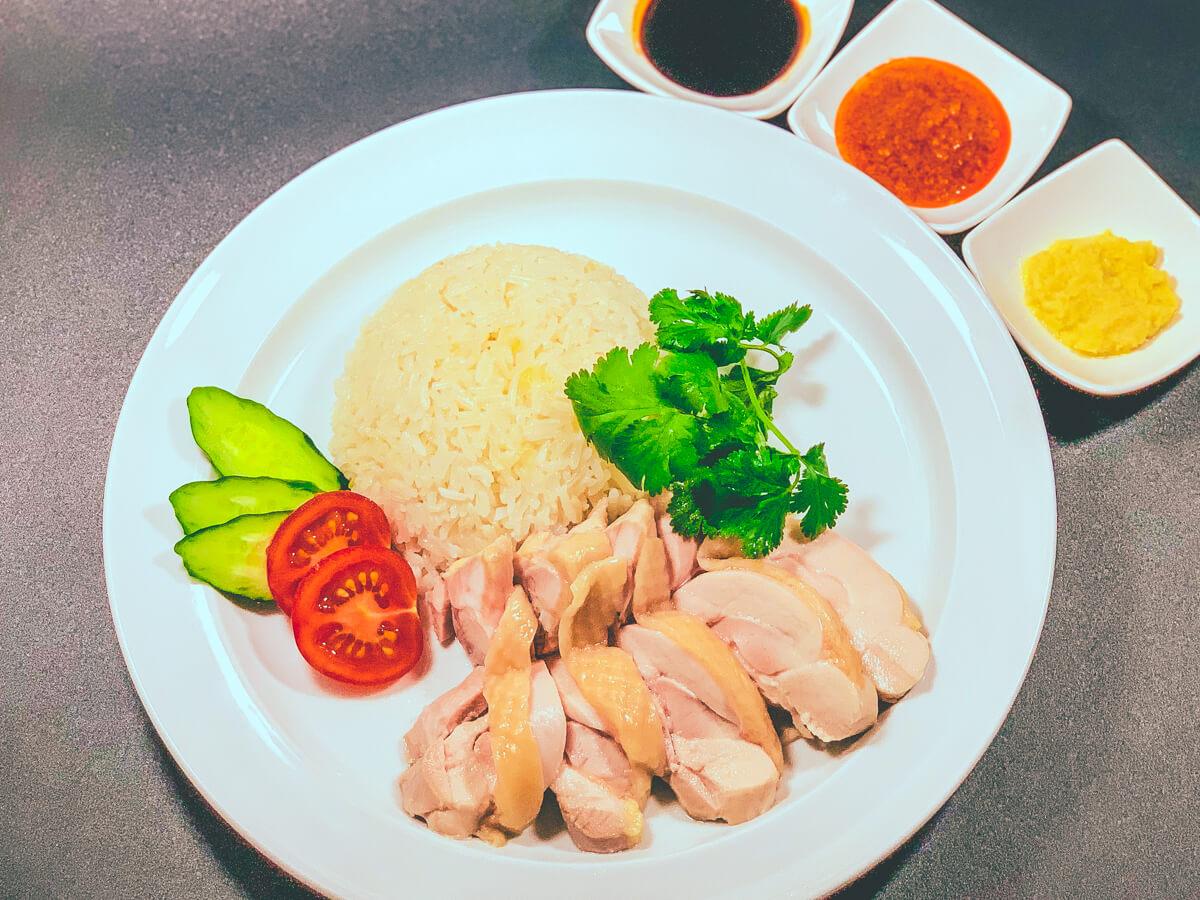 完成(海南鶏飯):低温調理レシピ