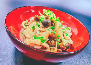 鶏ももときのこのコク旨煮(完成):低温調理レシピ