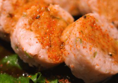 ふわふわ食感の鶏つくねのレシピ動画:低温調理レシピ