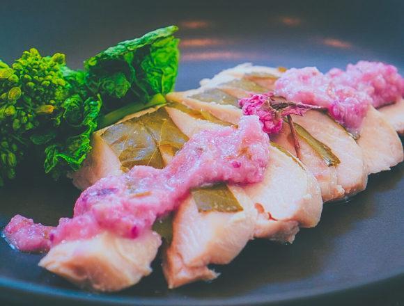 桜香るサラダチキン さくらソース(完成):低温調理レシピ
