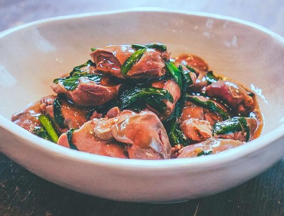 鶏レバニラ(完成)4:低温調理レシピ