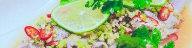 蒸しいさきのライムソース(プラーヌンマナオ)2:低温調理レシピ