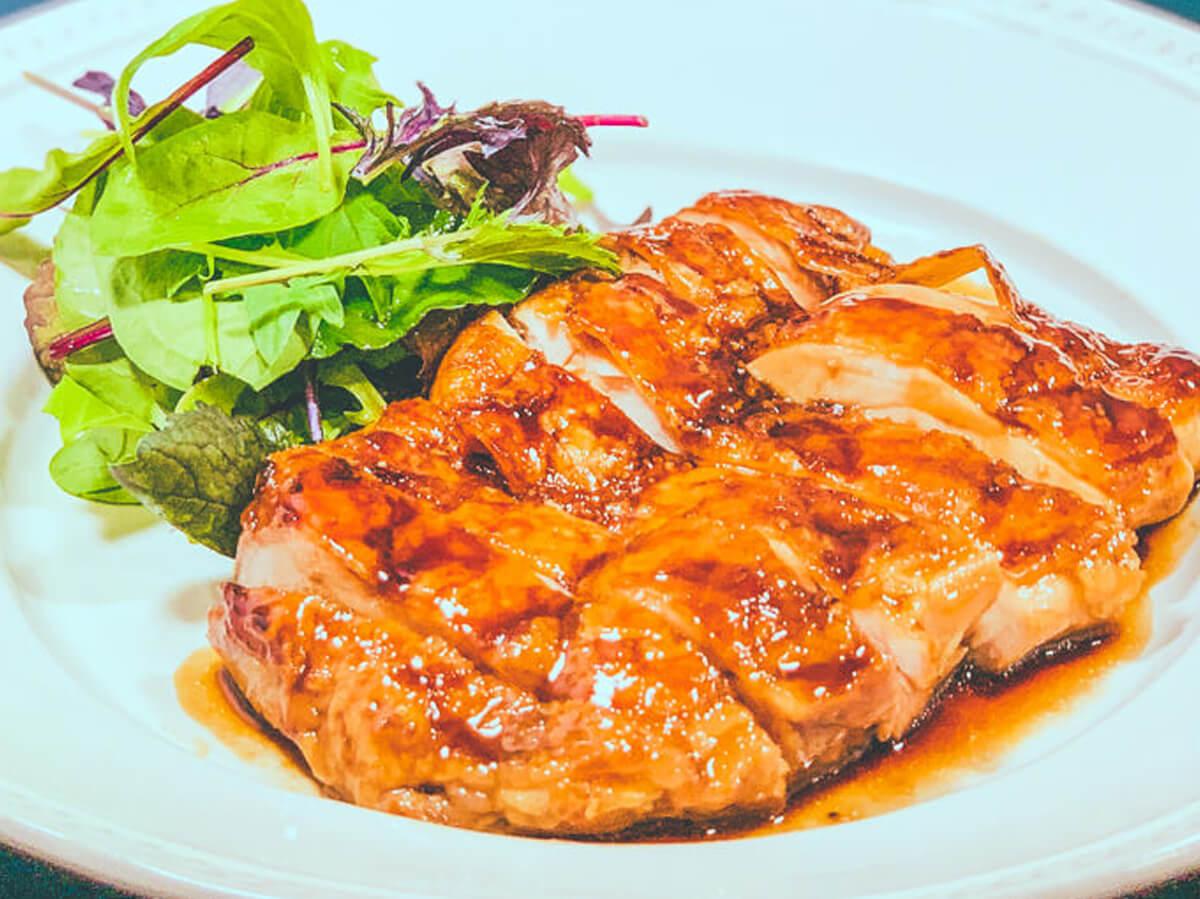 鶏もも肉の照り焼きの完成(改訂版鶏の照り焼き):低温調理レシピ