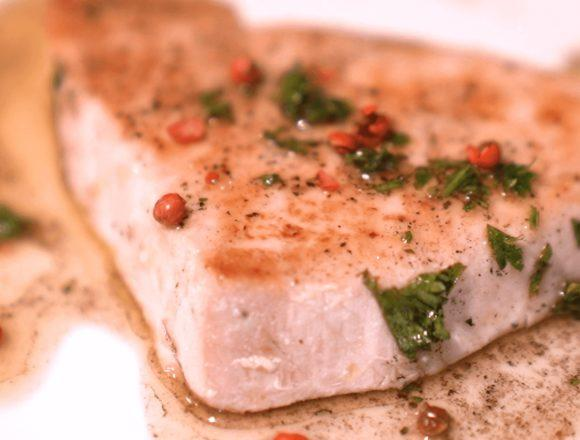 【メカジキのソテー焦がしバターソース】レシピ動画:BONIQ低温調理レシピ